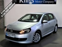 USED 2012 62 VOLKSWAGEN GOLF 1.6 SE TDI BLUEMOTION 5dr 1 Owner,FSH, £0 ZERO Road Tax,  Front & Rear Parking Sensors with Park Assist