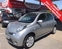 2008 NISSAN MICRA 1.2 ACENTA 41,000 MILES, FULL NISSAN SERVICE HISTORY, 1 OWNER £3995.00