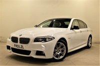 USED 2013 13 BMW 5 SERIES 2.0 520D M SPORT 4d AUTO 181 BHP + 1 PREV OWNER +  SAT NAV + AIR CON + AUX + BLUETOOTH