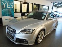 USED 2008 08 AUDI TT 2.0 TTS TFSI QUATTRO 3d AUTO 272 BHP Two private owners, full Audi service history- 12 stamps, supplied with 12 months Mot. Finished in Metallic Ice Silver with full Black leather