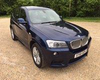 2011 BMW X3 XDRIVE30D M SPORT £14990.00