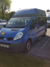2008 RENAULT TRAFIC 2.0 LH29 DCI  AUTO 115 BHP LWB HIGH ROOF DISABLED PASSENGER MINI BUS (NON RUNNER) £2750.00