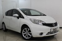 USED 2014 14 NISSAN NOTE 1.5 DCI TEKNA 5DR 90 BHP SERVICE HISTORY + HALF LEATHER SEATS + BLUETOOTH + 360 DEGREE REVERSE CAMERA + CRUISE CONTROL + MULTI FUNCTION WHEEL + 16 INCH ALLOY WHEELS