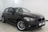 USED 2014 64 BMW 1 SERIES 1.6 116D EFFICIENTDYNAMICS BUSINESS 5DR 114 BHP SERVICE HISTORY + HEATED LEATHER SEATS + SAT NAVIGATION+ BLUETOOTH + CRUISE CONTROL + MULTI FUNCTION WHEEL + 16 INCH ALLOY WHEELS