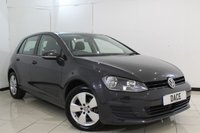 USED 2014 14 VOLKSWAGEN GOLF 1.6 SE TDI BLUEMOTION TECHNOLOGY 5DR 103 BHP FULL VW SERVICE HISTORY + BLUETOOTH + REVERSE CAMERA + CRUISE CONTROL + MULTI FUNCTION WHEEL + AIR CONDITIONING + 16 INCH ALLOY WHEELS