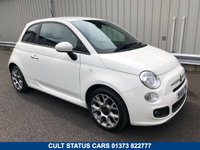 USED 2015 65 FIAT 500 1.2 S 3d 69 BHP ALLOY WHEELS, AIR CON, FULL FIAT HISTORY
