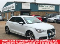 USED 2014 14 AUDI A1 1.6 TDI SPORT 3 Door 103 BHP Amalfi White £0 Road Tax What a lot of car Best Colour Zero Road Tax Bluetooth 74.3MPG Average
