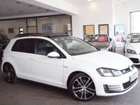 USED 2014 14 VOLKSWAGEN GOLF 2.0 GTD DSG 5d AUTO 182 BHP PAN ROOF+PRO NAV+LEATHER+R-CAM