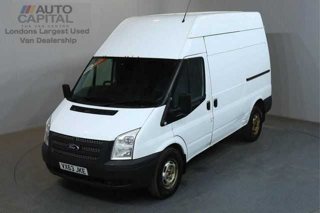 2013 63 FORD TRANSIT 2.2 350 124 BHP L2 H3 MWB HIGH ROOF AWD ONE OWNER FROM NEW, SERVICE HISTORY