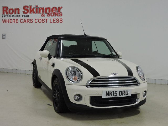 View our 2015 15 MINI CONVERTIBLE 1.6 ONE 2d 98 BHP with Auto AC + LED Fogs + Interior Lights Pack + More