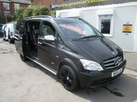 USED 2011 61 MERCEDES-BENZ VITO 2.1 B/EFFICIENCY,116 CDI, DUALINER 5 SATER, SPORT X SWB 163 BHP, TOP SPEC, DVD PLAYER, NAV, A/C, BTOOTH, 6 SPD