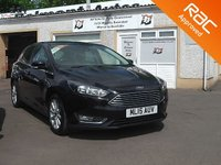 USED 2015 15 FORD FOCUS 1.5 TITANIUM TDCI 5d 118 BHP 2 Service Stamps -Satellite Navigation - Voice control  Active city Stop- cruise control