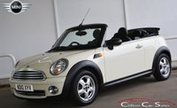 2010 MINI CONVERTIBLE ONE 1.6i 6-SPEED 98 BHP £6990.00