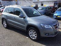 USED 2009 59 VOLKSWAGEN TIGUAN 2.0 SE TDI 4MOTION 5d AUTO 138 BHP OUR  PRICE INCLUDES A 6 MONTH AA WARRANTY DEALER CARE EXTENDED GUARANTEE, 1 YEARS MOT AND A OIL & FILTERS SERVICE. 6 MONTHS FREE BREAKDOWN COVER.   CALL US NOW FOR MORE INFORMATION OR TO BOOK A TEST DRIVE ON 01315387070 !! !! LIKE AND SHARE OUR FACEBOOK PAGE !!