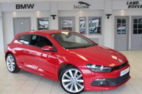 USED 2014 14 VOLKSWAGEN SCIROCCO 2.0 R LINE TDI BLUEMOTION TECHNOLOGY 2d 140 BHP FULL BLACK LEATHER SEATS + FULL SERVICE HISTORY + SAT NAV + BLUETOOTH + £30 ROAD TAX + HEATED FRONT SEATS + 18 INCH ALLOYS + DAB RADIO + REAR PARKING SENSORS