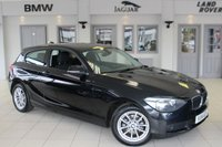USED 2014 14 BMW 1 SERIES 1.6 114D ES 3d 94 BHP FULL BMW SERVICE HISTORY + PRO SAT NAV + £20 ROAD TAX + BLUETOOTH + DAB RADIO + 16 INCH ALLOYS