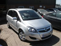 USED 2013 63 VAUXHALL ZAFIRA 1.6 EXCLUSIV 5d 113 BHP ANY PART EXCHANGE WELCOME, COUNTRY WIDE DELIVERY ARRANGED, HUGE SPEC