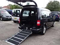 2013 VOLKSWAGEN CADDY MAXI 1.6 C20 TDI BLUEMOTION WHEELCHAIR ACCESS WAV £11995.00