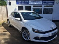 USED 2011 61 VOLKSWAGEN SCIROCCO 2.0 GT TDI BLUEMOTION 34K FSH ONE FAMILY OWNER 6SPEED  T-SCREEN MEDIA  BLUETOOTH  EXCELLENT CONDITION