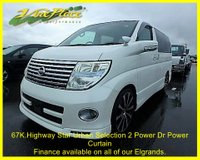 2007 NISSAN ELGRAND  Highway 3.5 Star,Automatic,8 Seats,67K.Power Curtain, 2 Power Doors £9000.00