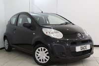 USED 2012 12 CITROEN C1 1.0 VT 3DR 67 BHP SERVICE HISTORY + AIR CONDITIONING + RADIO/CD + AUXILIARY PORT
