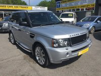 2006 LAND ROVER RANGE ROVER SPORT 2.7 TDV6 HSE 5d AUTO 188 BHP IN SILVER WITH BLACK LEATHER AND 9 SERVICE STAMPS £8999.00