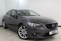 USED 2013 63 MAZDA 6 2.2 D SPORT NAV 4DR 173 BHP HEATED LEATHER SEATS + SAT NAVIGATION + REVERSE CAMERA + BLUETOOTH + CRUISE CONTROL + CLIMATE CONTROL + MULTI FUNCTION WHEEL + 19 INCH ALLOY WHEELS