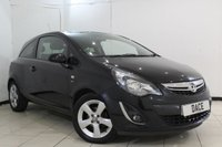 USED 2012 62 VAUXHALL CORSA 1.2 SXI AC 3DR 83 BHP FULL SERVICE HISTORY + AIR CONDITIONING + CRUISE CONTROL + MULTI FUNCTION WHEEL + AUXILIARY PORT + RADIO/CD + ELECTRIC WINDOWS + 16 INCH ALLOY WHEELS