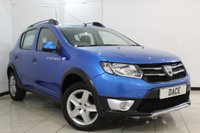 USED 2013 63 DACIA SANDERO 0.9 STEPWAY LAUREATE TCE 5DR 90 BHP SERVICE HISTORY + SAT NAVIGATION + BLUETOOTH + PARKING SENSOR + CRUISE CONTROL + MULTI FUNCTION WHEEL + AIR CONDITIONING + ALLOY WHEELS