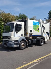 USED 2011 60 DAF TRUCKS LF 6.7 FA LF55.220 14TONNE 225 BHP EURO 4 DUSTIN/REFUSE/DUSTCART WITH VARIOPRESS EQUIP +AUTOMATIC+REVERSE CAM+EX COUNCIL