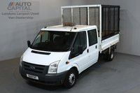 USED 2011 11 FORD TRANSIT 2.4 350 100 BHP L3 LWB TIPPER ONE OWNER FROM NEW, FULL SERVICE HISTORY