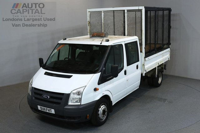 2011 11 FORD TRANSIT 2.4 350 100 BHP L3 LWB TIPPER ONE OWNER FROM NEW, FULL SERVICE HISTORY