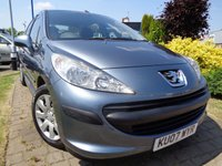 USED 2007 07 PEUGEOT 207 1.4 S 5d 88 BHP **Low Mileage FSH 10 Stamps March 2019 Mot**