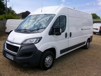 USED 2015 65 PEUGEOT BOXER 2.2 HDI 335 L3H2 PROFESSIONAL P/V 1d 130 BHP AIR/CON TOUCH SCREEN SAT/NAV FULL  SERVICE HISTORY