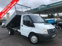USED 2007 56 FORD TRANSIT TIPPER 2.4 350 MWB 1d 100 BHP NEW Alloy Tipping Body, Direct BT, Service History, Finance In 60 Seconds.