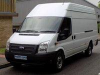 2013 FORD TRANSIT JUMBO 2.2 RWD EL LWB 350 HIGH ROOF 125 BHP 6 SPEED  £7995.00