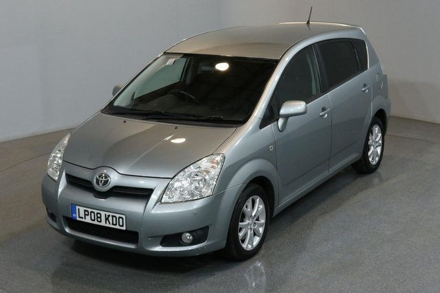 2008 08 TOYOTA COROLLA 1.8 VERSO SR VVT 128 BHP AUTO A/C 3 OWNER FROM NEW, FULL SERVICE HISTORY