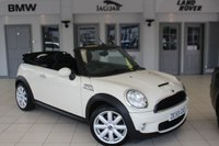 USED 2010 59 MINI CONVERTIBLE 1.6 COOPER S 2d 175 BHP HALF CARBON BLACK LEATHER SEATS + BLUETOOTH + XENON HEADLIGHTS + CHILI PACK + 16 INCH ALLOYS + AUTOMATIC AIR CONDITIONING