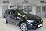 USED 2014 63 BMW X1 2.0 XDRIVE20D M SPORT 5d AUTO 181 BHP FULL BLACK LEATHER SEATS + BLUETOOTH + DAB RADIO + CRUISE CONTROL + HEATED FRONT SEATS + PARKING SENSORS + 17 INCH ALLOYS + AUTOMATIC AIR CONDITIONING