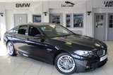 USED 2016 16 BMW 5 SERIES 2.0 520D M SPORT 4d AUTO 188 BHP FULL BMW SERVICE HISTORY + EXCLUSIVE BLACK LEATHER SEATS + SAT NAV + BLUETOOTH + DAB RADIO + HEATED FRONT SEATS + 18 INCH ALLOYS + PARKING SENSORS