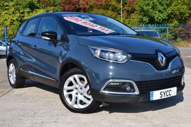 USED 2014 64 RENAULT CAPTUR 1.5 DYNAMIQUE MEDIANAV ENERGY DCI S/S 5d 90 BHP ** FREE ROAD TAX ** SAT NAV ~ BLUETOOTH ~ MEDIA ~ FREE ROAD TAX ~ 1 OWNER