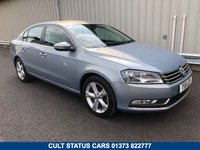 USED 2011 11 VOLKSWAGEN PASSAT 2.0 SE TDI BLUEMOTION TECHNOLOGY DSG 4d AUTO 139 BHP JUST 60K MILES, 2 OWNERS, FSH