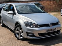 2014 VOLKSWAGEN GOLF 1.6 MATCH TDI BLUEMOTION TECHNOLOGY 5dr 103 BHP £7500.00