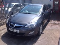 2012 VAUXHALL ASTRA 1.4 EXCLUSIV 5d 98 BHP £SOLD
