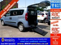 2013 FIAT DOBLO 1.6 MULTIJET MYLIFE DUALOGIC WHEELCHAIR ACCESS WAV 4 SEATS £9495.00