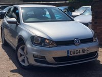 2014 VOLKSWAGEN GOLF 1.6 MATCH TDI BLUEMOTION TECHNOLOGY 5dr 103 BHP £6900.00