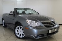 USED 2008 08 CHRYSLER SEBRING 2.7 LIMITED V6 2DR 189 BHP HEATED LEATHER SEATS + SAT NAVIGATION + CRUISE CONTROL + HEATING/COOLING CUP HOLDER + MULTI FUNCTION WHEEL + 18 INCH ALLOY WHEELS