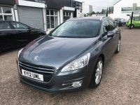 USED 2012 12 PEUGEOT 508 2.0 ALLURE SW HDI FAP 5d 163 BHP MAIN DEALER SERVICE HISTORY-BLUETOOTH-PAN ROOF-CRUISE AND CLIMATE CONTROL-REAR PARKING SENSORS