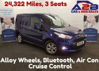 2015 FORD TRANSIT CONNECT LIMITED 1.6 200 115 BHP 24,322 Miles, 3 Seats, Air Con, Bluetooth, DAB Radio £11480.00
