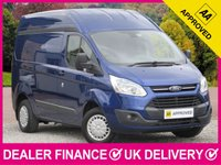 USED 2014 14 FORD TRANSIT CUSTOM 2.2 TDCI TREND HIGH ROOF L1H2 PANEL VAN 3 SEATS BLUETOOTH CRUISE PARKING SENSORS PLY LINED